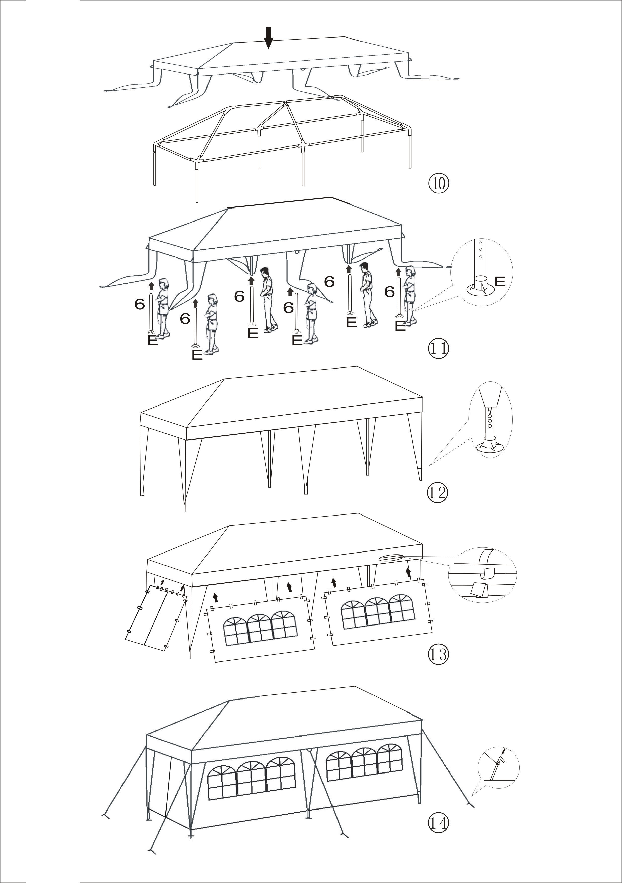Tent For Outdoor Picnic Party Or Storage 20 X 10 White Aleko