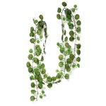 Artificial Garland Decoration - Green Big Ivy - 7.5 Feet - Pack of 10