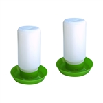 ALEKO® 2PDR001 Water Drinker, Set of 2, Green and White