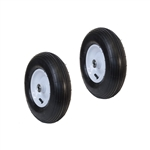 ALEKO 2WBAP13 Ribbed Pneumatic Replacement Wheels for Wheelbarrow 13 Inch (33 cm) Air FIlled Turf Tires, Set of 2, Black Tire White Rim