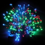 ALEKO® 60 LED Solar Powered Christmas String Lights, Multicolor