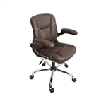 ALEKO ALC2155BR High Back Brown Office Chair
