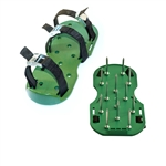 ALEKO®  AP2143 Heavy Duty Lawn Garden Sharp Aerating Spike Shoes, Green Color