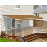 ALEKO 12x10 Ft Retractable Patio Awning, SAND Color