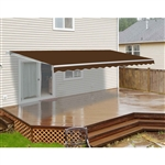 ALEKO® 12x10 Ft Retractable Patio Awning, BROWN Color