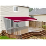 ALEKO 20x10 Ft Motorized Retractable Patio Awning, BURGUNDY Color
