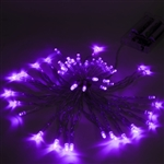 ALEKO 50 LED 19.5 Foot Battery Operated Purple Color Lights
