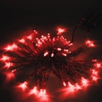 ALEKO 50 LED 19.5 Foot Battery Operated Red Color Lights