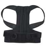 Back and Shoulders Posture Support Brace - Black - Medium Size - ALEKO