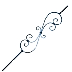 Black Powder Coated Baluster - S Style Design - 44 Inches - Pack of 5 - ALEKO