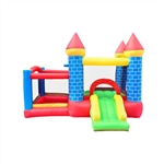 Indoor/Outdoor Inflatable Bounce House Mega Castle with Built-In Ball Pit, Slide, and Hoop - Multi Color - ALEKO
