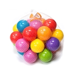 ALEKO® BHBALLS Set Of 60 Plastic Balls For Bouncy House Pitt Crush Proof Non Toxic Toy Balls Various Vibrant Colors