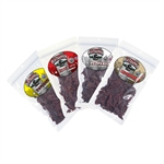 Old Trappers Traditional Style Jerky - 4 Flavor Kit - Old Fashioned, Peppered, Teriyaki, Hot & Spicy - ALEKO