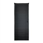 ALEKO® BL26X64BL Smooth PVC Vinyl Horizontal Window Treatment Blinds 1 inch (2.5 cm) Slats 26 X 64 Inches (66 X 162.6 cm), Black