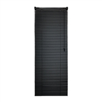 ALEKO® BL26X72BL Smooth PVC Vinyl Horizontal Window Treatment Blinds 1 inch Slats 26 X 72 Inches (66 X 183 cm), Black
