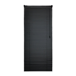 ALEKO® BL34X72BL Smooth PVC Vinyl Horizontal Window Treatment Blinds 1 inch (2.5 cm) Slats 34 X 72 Inches (86 X 183 cm), Black
