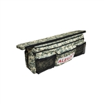 Waterproof Polyester Seat Cushion for Inflatable Boats with Spacious Under Seat Bag with Pockets - 34 x 9 inches - Digital Camouflage - ALEKO
