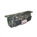 Waterproof Polyester Seat Cushion for Inflatable Boats with Spacious Under Seat Bag with Pockets - 38 x 9 inches - Camouflage - ALEKO