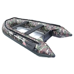 ALEKO BT380CM Inflatable Fishing Camouflage 6 Person Motor Boat 12.5 Feet with Aluminum Floor and Splash Guard