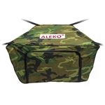Front Bow Storage Bag for 12.5 Foot Boats -  19 x 30 Inches - Camouflage - ALEKO