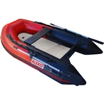 Inflatable Air Floor Sport Boat - 8.4 Foot - Red and Black - ALEKO