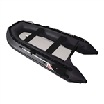 Inflatable Boat with Air Deck Floor - 10.5 Ft - Black - ALEKO