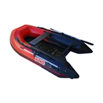 ALEKO® BTSDSL250RBK 3 Person Inflatable 8.4 Feet (256 cm) Fishing Raft Sport Motor Boat with Pre-Installed Slide Floor, Red and Black