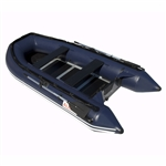 ALEKO® BTSDWD320B Inflatable 4 Person Motor Fishing Boat Raft 10.5 Feet (3.2 m) with Wood Floor, Blue