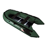 Inflatable Sport Boat with Wood Floor - 10.5 Feet - Green - ALEKO