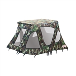 ALEKO® BWTENT320CM Winter Waterproof Canopy Boat Tent Covering for Inflatable Boat, Camouflage