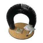 Self Grooming Cat Massage Arch and Scratch Pad