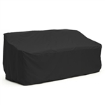 Heavy Duty Weather Resistant Indoor/Outdoor Protective Sofa Cover - Black - 69 Inches