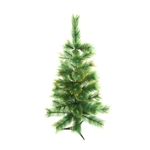 ALEKO® CT35H14 Luscious 3 Feet (0.9 m) Artificial Christmas Holiday Pine Tree with Golden Tips