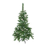 ALEKO® CT48H11 Luscious Artificial 4 Feet (1.2 m) Christmas Holiday Pine Tree with Snow Covered Pine Cones