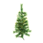 ALEKO® CT48H14 Luscious Artificial 4 Feet (1.2 m) Christmas Holiday Pine Tree With Golden Tips