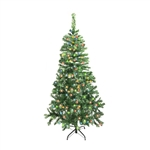 ALEKO® CT60H250MC Artificial Luscious 5 Feet (1.5 m) Lighted Christmas Holiday Pine Tree With 250 LED Multicolor Lights