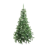 ALEKO® CT71H11 Luscious Artificial Indoor 6 Feet (1.8 m) Christmas Holiday Pine Tree With White Tips and Snow Covered Pine Cones