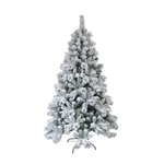 ALEKO Snow Dusted 8 Foot Holiday Tree