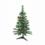 ALEKO® CTPC24H17 Luscious 2 Feet Artificial Christmas Holiday Tree with Decorative Pine Cones