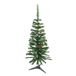 ALEKO® CTPC48H17 Luscious Artificial 4 Feet (1.2 m) Christmas Holiday Pine Tree with Decorative Pine Cones