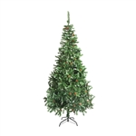 ALEKO® CTPC59H17 Luscious 5 Foot (1.5 m) Artificial Christmas Holiday Tree With White Tips and Decorative  Pine Cones