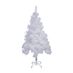 Snow Washed Artificial Holiday Christmas Tree - 5 Feet - White - ALEKO