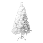 Snow Washed Artificial Holiday Christmas Tree - 7 Feet - White - ALEKO