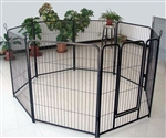 "ALEKO® Black 8 Panel 40"" Heavy Duty Pet Playpen Dog Exercise Pen Cat Fence, Run for Chicken Coop, Hens House"