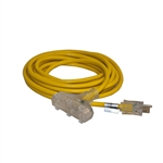 ALEKO  EC12G3P25 ETL 25-Feet (8m) Extension Cord, Yellow