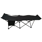Portable Collapsible Camping Bed - Black - ALEKO