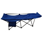Portable Collapsible Camping Bed - Blue - ALEKO