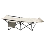 Portable Collapsible Camping Bed - Gray - ALEKO