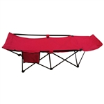 Portable Collapsible Camping Bed - Red - ALEKO