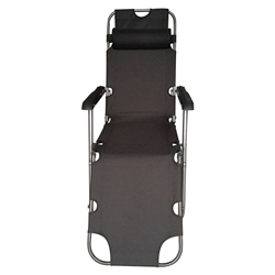 Foldable Zero Gravity Camping and Lounge Chair - Black - ALEKO